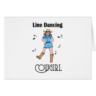 "Western ""Line Dancing Cowgirl"" Greeting Card"
