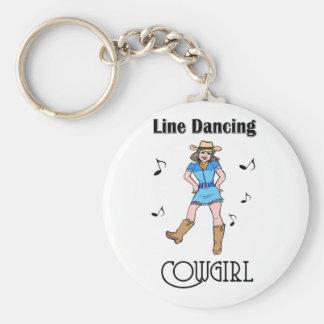 Western Line Dancing Cowgirl Keychain