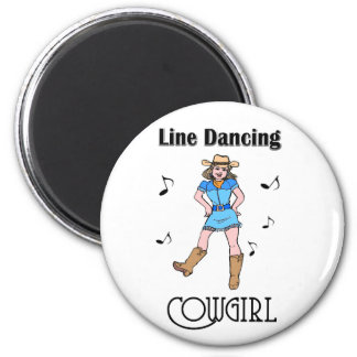 "Western ""Line Dancing Cowgirl"" Magnet"
