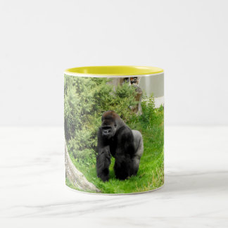 Western Lowland silverback male gorilla Two-Tone Coffee Mug