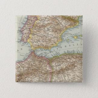 Western Mediterranean Map 15 Cm Square Badge