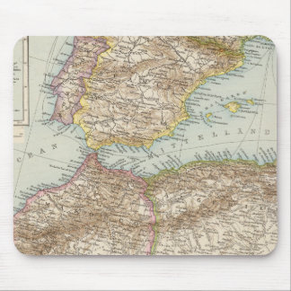 Western Mediterranean Map Mouse Mat