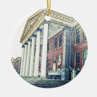 Western Michigan University Historic East Hall Christmas Ornament
