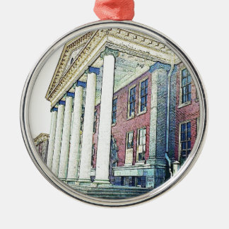 Western Michigan University Historic East Hall Silver-Colored Round Decoration