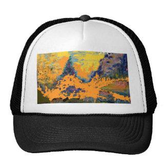 Western Mountain Aspens Landscape Painting Cap