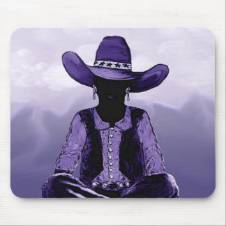 Western Mountaineer Cowgirl Mouse Mat