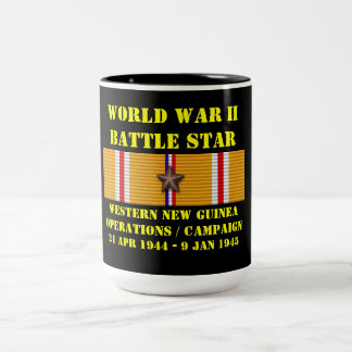 Western New Guinea Operations Campaign Two-Tone Coffee Mug