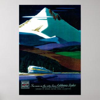 Western Pacific California Zephyr Vintage Poster