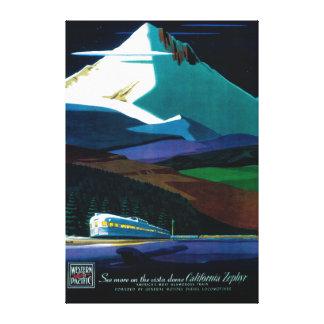 Western Pacific California Zephyr Vintage Poster Canvas Print
