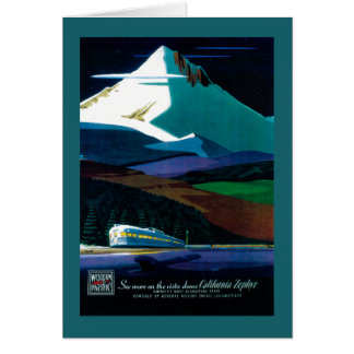Western Pacific California Zephyr Vintage Poster Card