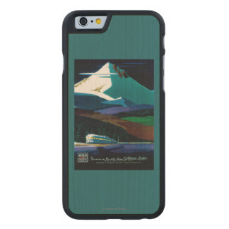 Western Pacific California Zephyr Vintage Poster Carved® Maple iPhone 6 Slim Case