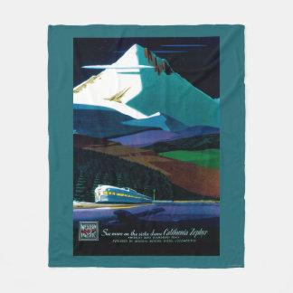 Western Pacific California Zephyr Vintage Poster Fleece Blanket