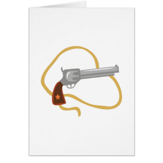 Western Pistol Greeting Card