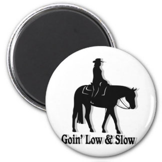 Western Pleasure Horse Low and Slow 6 Cm Round Magnet