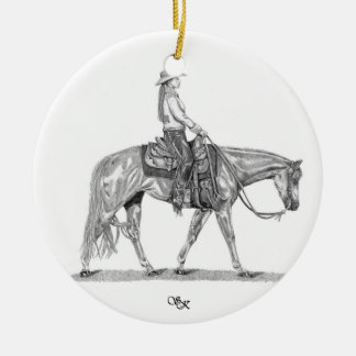 Western Pleasure Horse Ornament