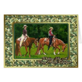 Western Pleasure Quarter Horse Christmas Card