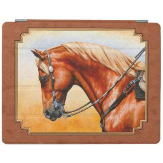 Western Quarter Horse Rustic Brown iPad Cover