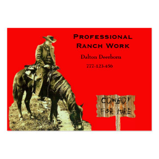 WESTERN RANCH COWBOY BUSINESS CARD TEMPLET BUSINESS CARD TEMPLATE