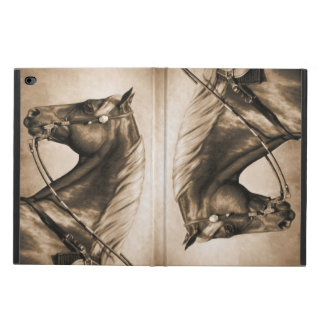 Western Ranch Horse Old Photo Sepia Powis iPad Air 2 Case