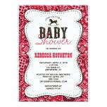 Western Red Bandanna Baby Shower Invitation