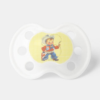 Western Retro Little Cowboy With Rope Dummy