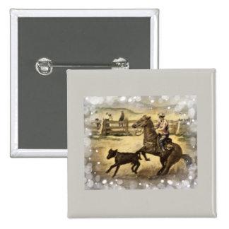 Western Ride 15 Cm Square Badge
