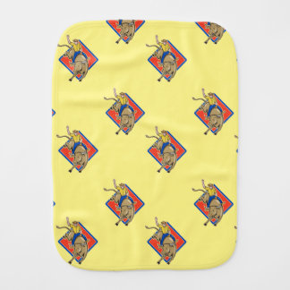 Western Rodeo cowboy Bull Riding Burp Cloths