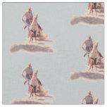 Western Rodeo Cowboy Calf Roping Print Fabric
