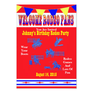 Western Rodeo Cowboy Or Cowgirl Party 13 Cm X 18 Cm Invitation Card
