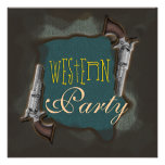 Western rodeo horse ranch party custom invites