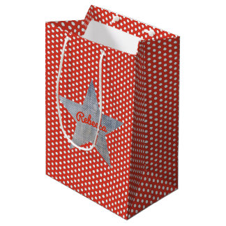 Western Roundup Dots Gift Bag-Small Medium Gift Bag
