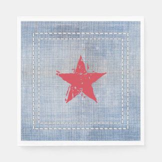 Western Roundup Star Napkin Disposable Serviette