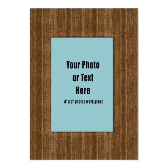 Western Rustic Wood Frame - Customisable Card