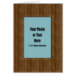 Western Rustic Wood Frame - Customisable Greeting Card