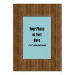 Western Rustic Wood Frame - Customisable 13 Cm X 18 Cm Invitation Card