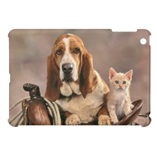 Western Saddle Friends Dog and Cat Case For The iPad Mini