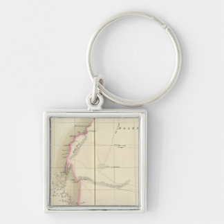 Western Sahara, Africa 12 Silver-Colored Square Key Ring