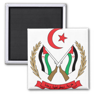 Western Sahara Coat of Arms detail Square Magnet