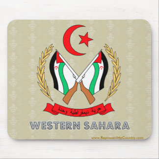 Western Sahara Coat of Arms Mouse Pad