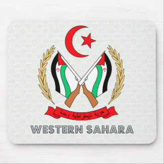 Western Sahara Coat of Arms Mouse Pads
