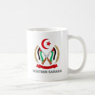 Western Sahara Coat of Arms Mugs