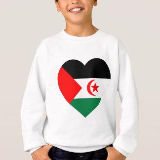 Western Sahara Flag Heart Sweatshirt