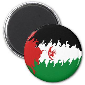 Western Sahara Gnarly Flag 6 Cm Round Magnet