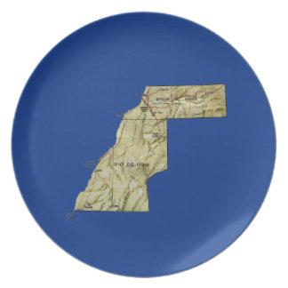 Western Sahara Map Plate