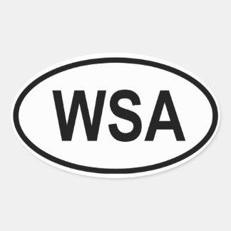 """Western Sahara """"WSA"""" Oval Sticker"""