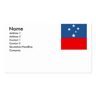 Western Samoa Business Card
