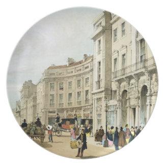 Western side of John Nash's extended Regent Circus Dinner Plates