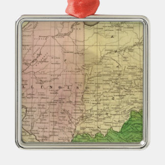 Western States Olney Map Christmas Ornament