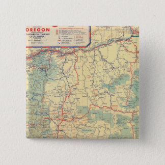 Western States road map 15 Cm Square Badge