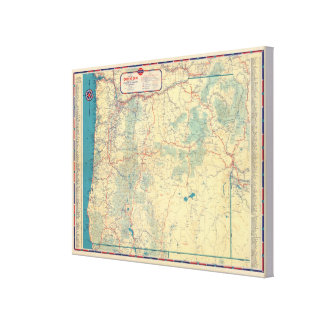 Western States road map Canvas Print